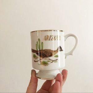 Vintage Arizona Road Runner Bird Coffee Mug Boho